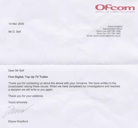 Ofcom letter