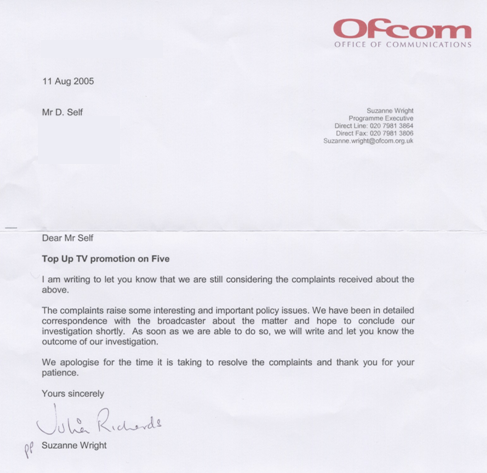 Ofcom's Second Letter