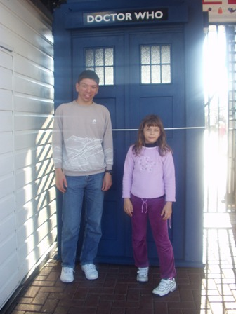 Cute photo with Katie by the TARDIS