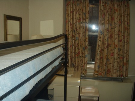 Our hotel rooms were small…