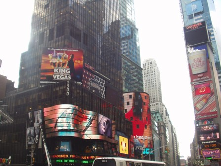 Times Square! (Even better at night)