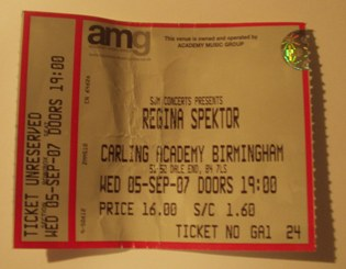 Hallowed gig ticket