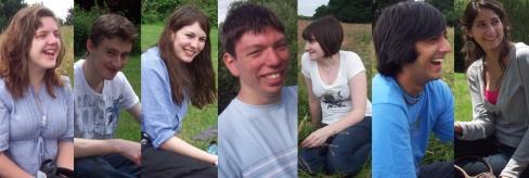 Picnic people: Sanna, Robert, Saoirse, me, Emily, Rishal and Charlotte