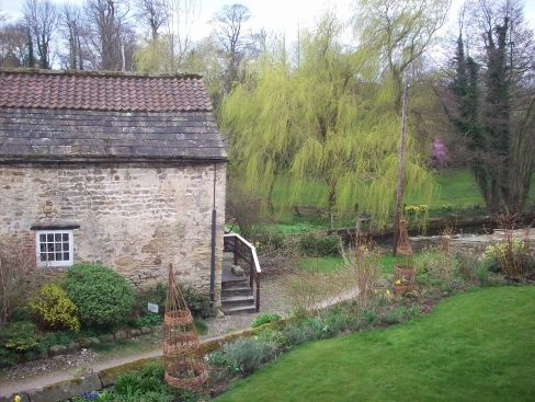 Crakehall Watermill: the view from our window
