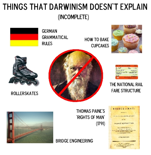 Things That Darwinism Doesn't Explain (Incomplete)