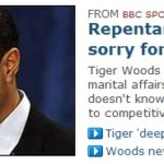 Repentant Woods sorry for affairs