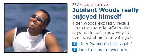 Jubilant Woods really enjoyed himself