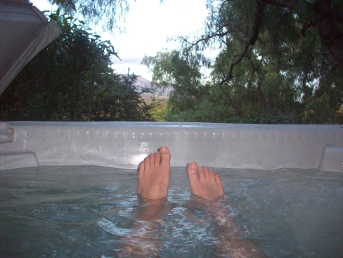 4. Jacuzzi. (Not pictured: champagne. But rest assured there was champagne.)
