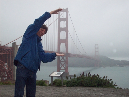 9. Messing about at a rainy Golden Gate bridge