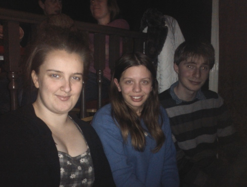 Speechley, Katie and Oliver: a lovely random gathering!