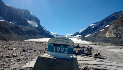 The glacier that's almost gone