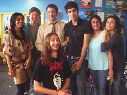 Great class: Natasha, Me, Mr Drummond, Fabio, Sophie and Hanan – with Joshua in front