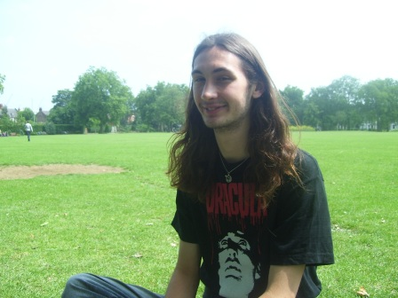 Joshua in the park, finally free from school