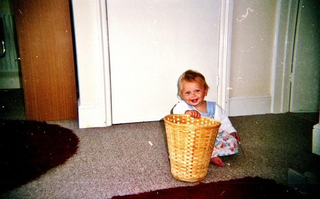 Katie vs. the bin (part #329)