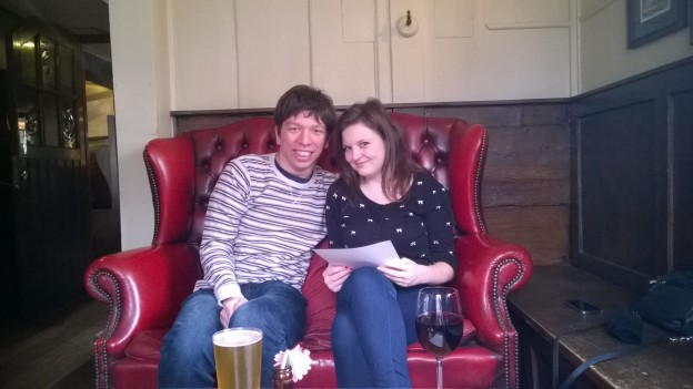 Nabbing the private room at The Spaniards Inn