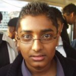 Minesh, looking like he knows exactly where he is