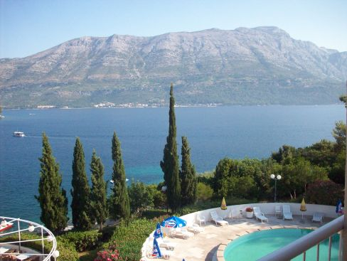 Welcome to Korcula! The view from our room…