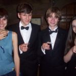 Eleanor, Owen, Oliver and Abi enjoy some Pimm's