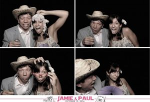 The photobooth at Jamie and Paul's