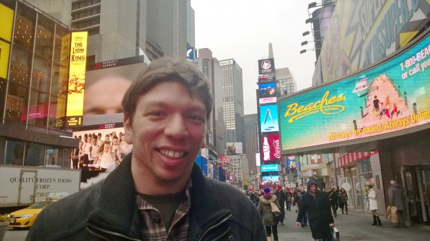 At Times Square. Can't wait to be back in February 2024.