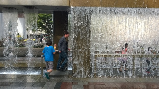 I love this fountain. So do young children, clearly.