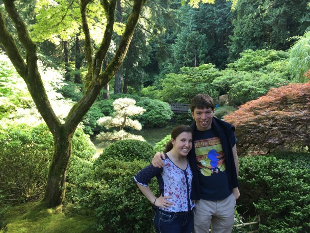 Coupley photo in Japanese garden #2