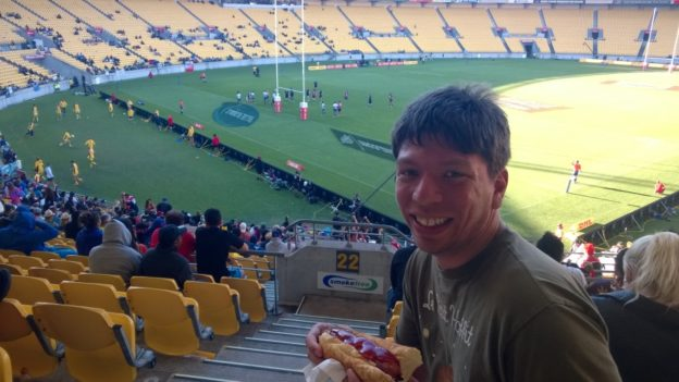 At the rugby. Nobody begrudged me ketchup here.