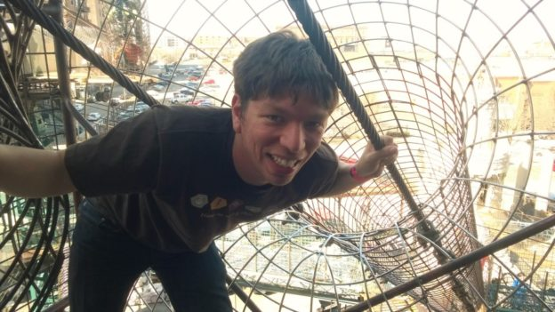 Up inside the City Museum's outdoor section