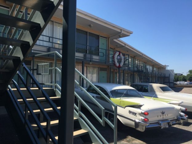 The balcony at the Lorraine Motel where MLK was assassinated