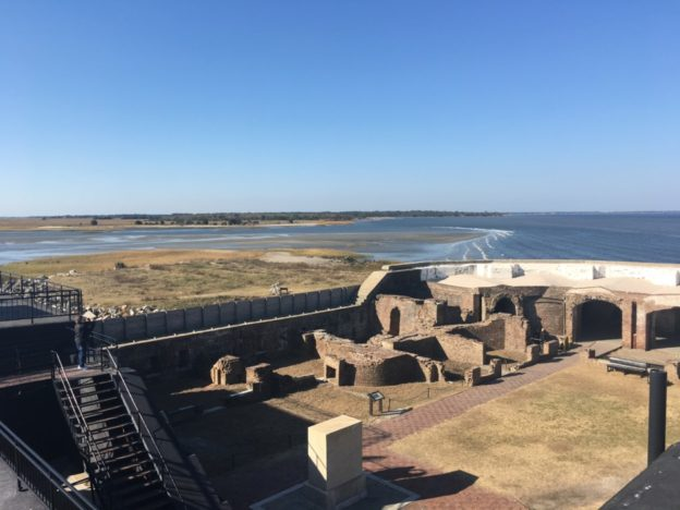 The remains of Fort Sumter