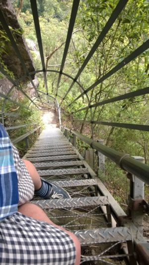 Clambering at the Wentworth Falls
