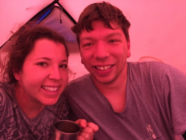 Suave camping selfie