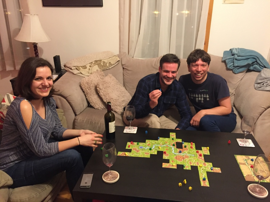 We finally got Robert to play Carcassonne!