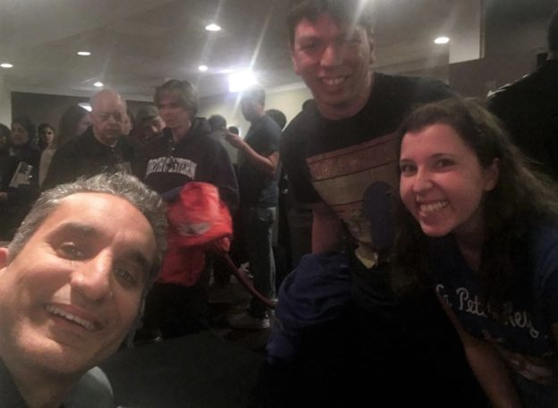 Our selfie with Bassem Youssef