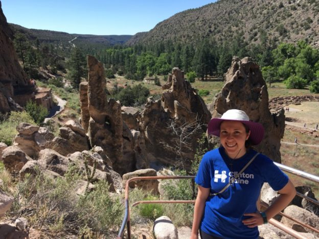 At the Bandelier National Monument