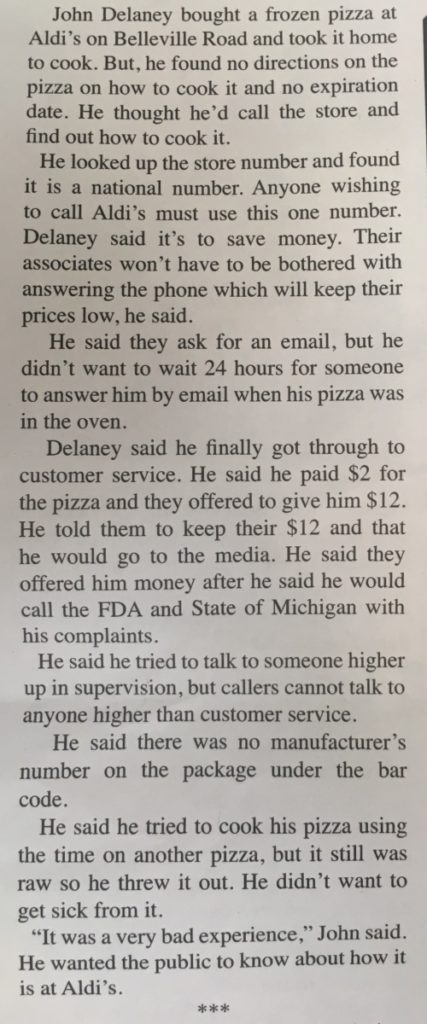 John Delaney and the $2 pizza