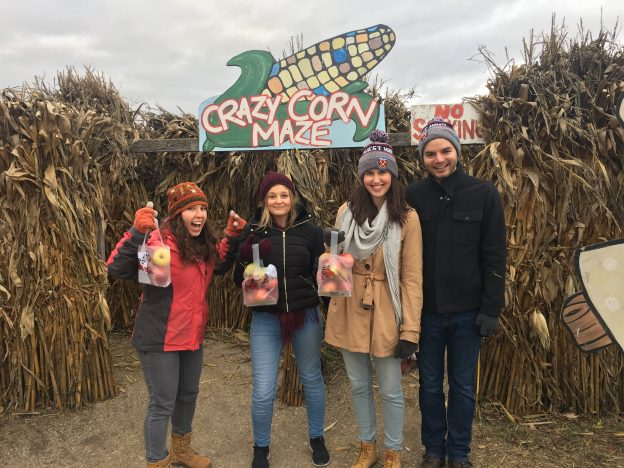 I waited for everyone else to (eventually) join my escape from the Crazy Corn Maze
