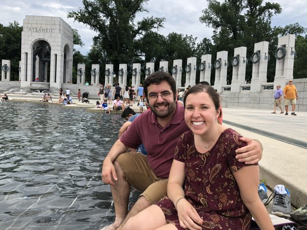 Randi and Ben at the WW2 Memorial in DC