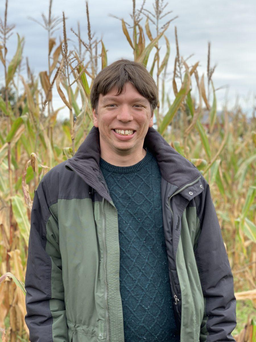 In a corn maze