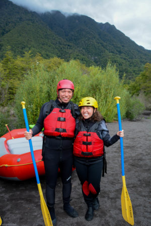 In our rafting gear