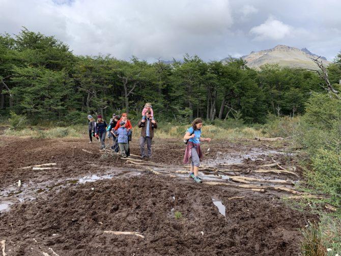 Randi leads through the mud