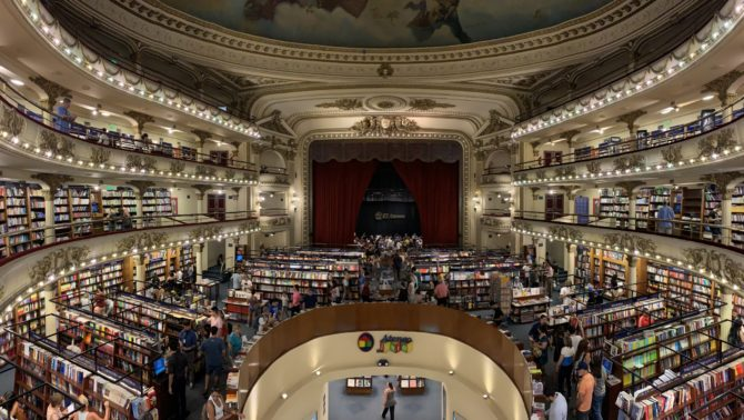 El Ateneo Grand Splendid - a beautiful bookshop in an old theatre. One online review genuinely complained that the books were in Spanish.