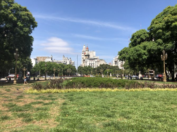 View across the Congress Plaza, which is actually not much of a plaza since the Spanish didn't put any plaza-building effort into Buenos Aires