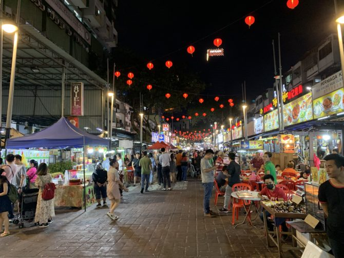 Jalan Alor market on our last night