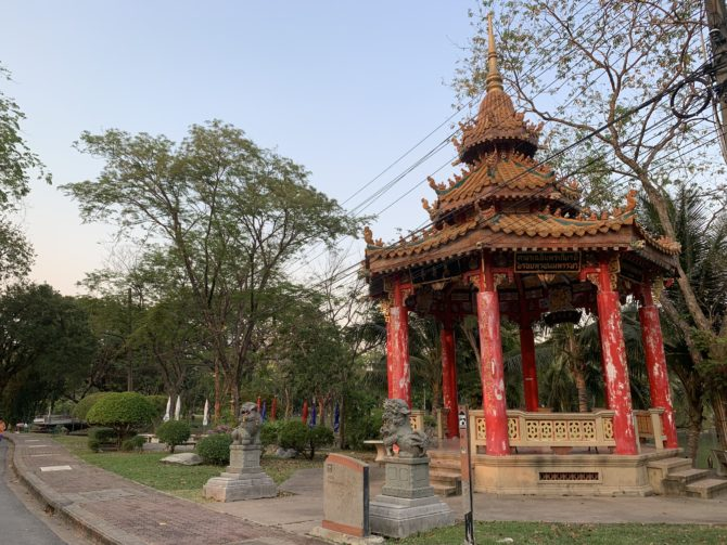 While Randi was exercising I also took photos of Chinese pagodas