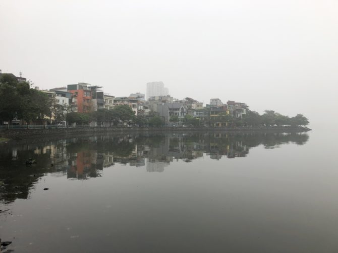 Nearby Hồ Tây lake, which happens to sit on the border between our universe and the endless void