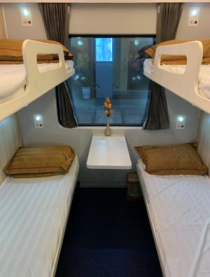 A four-person room on the overnight train