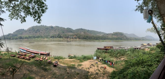 The Mekong flowing through Luang Prabang