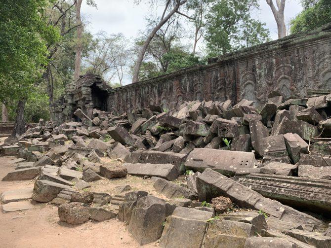 Very much unrestored ruins