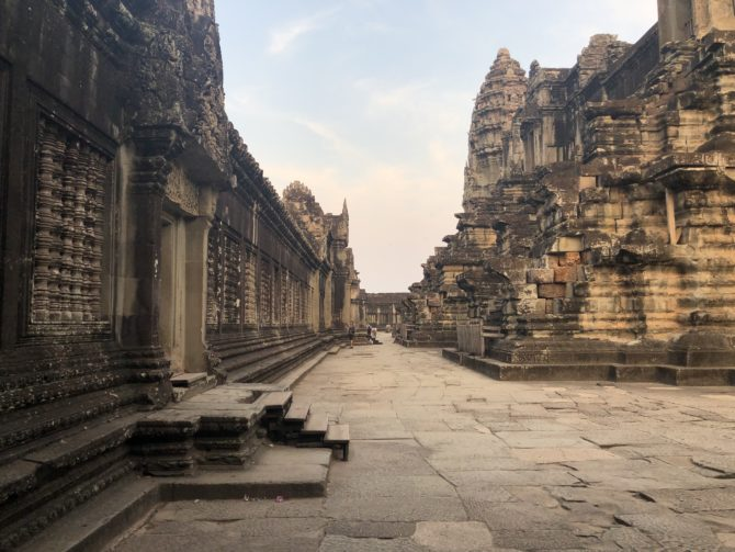 Inside Angkor Wat, near the centre of the temple